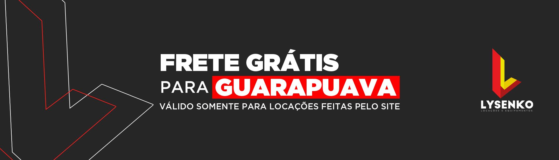 Frete Grátis para Guarapuava